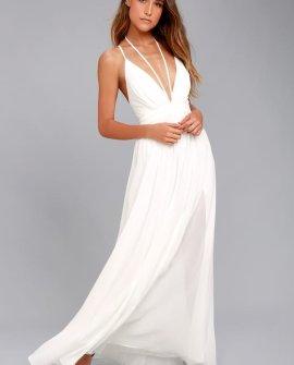 Brilliant Beauty White Maxi Dress