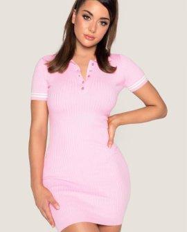 CECE Short Sleeve Polo Mini Dres