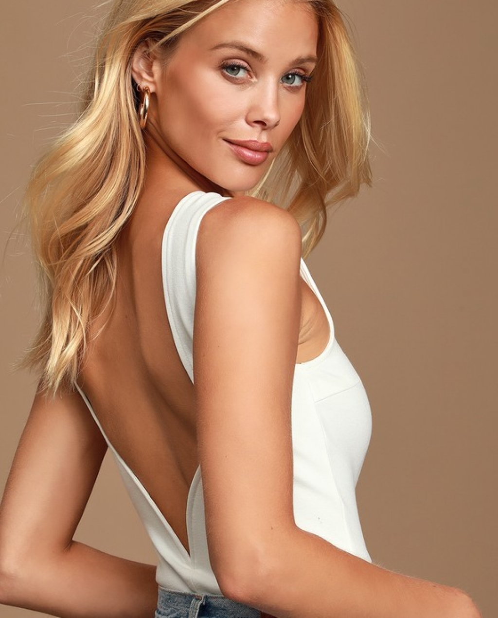 Call Me Later White Backless Bodysuit