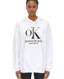 Calvin Klein 3D Logo Cotton Sweatshirt Hoodie