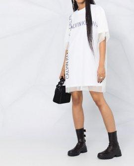 Calvin Klein Jeans mesh-overlay oversized T-shirt