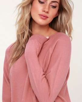 Cardiff Rose Pink Long Sleeve Sweatshirt