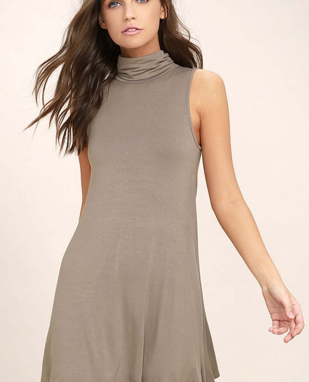 Carpe Diem Taupe Swing Dress
