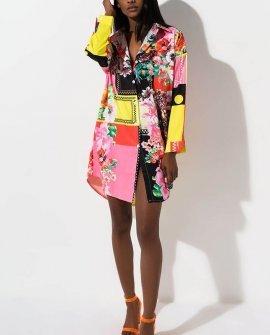 Casino Royale Floral Shirt Dress