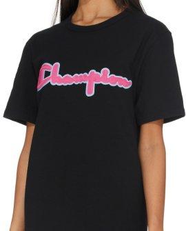 Champion  Heritage Chainstitch Script Logo T-Shirt - Black
