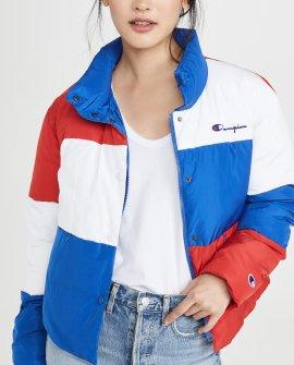 Champion Premium Reverse Weave Colorblock Puff Jacket