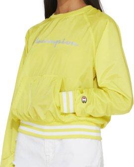 Champion  Ripstop Script Crew Pullover - Journey Yellow