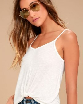 Charvi White Tank Top