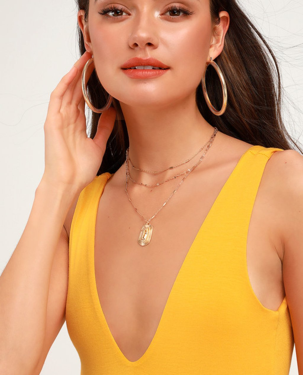 Check You Out Golden Yellow Sleeveless Bodysuit