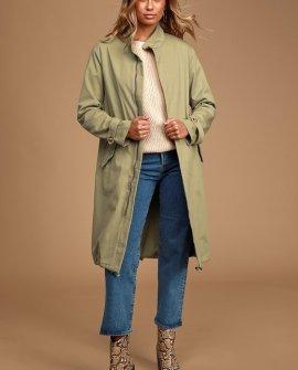 Chic Season Olive Green Long Jacket