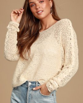 Chill Out Ivory Loose Knit Sweater