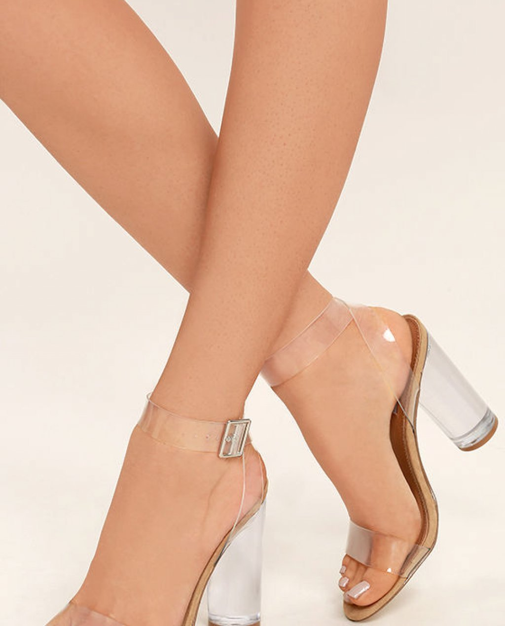 Clearer Clear Lucite Heels