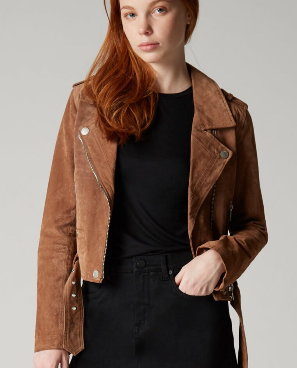 Coffee Bean Suede Jacket