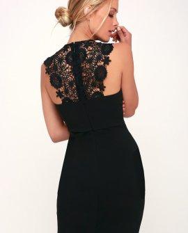 Come Alive Black Lace Bodycon Dress