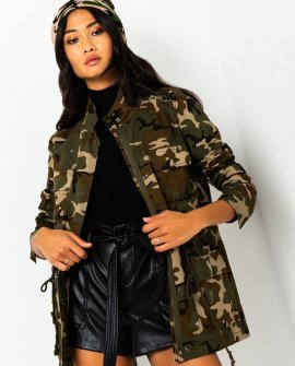 Constant Camo Trench Jacket