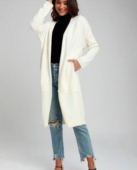 Cozy Love Cream Long Cardigan Sweater
