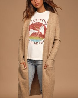 Cozy Season Camel Knit Cardigan