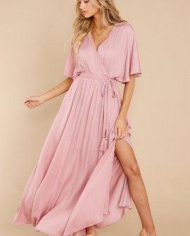 Cross My Heart Dusty Rose Maxi Dress
