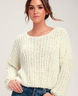 Crush On You Cream Chunky Knit Sweater
