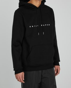 Daily Paper Alias black logo-embroidered cotton sweatshirt