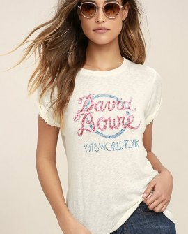 Daydreamer David Bowie World Tour Cream Tee