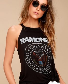 Daydreamer Ramones Black Tank Top