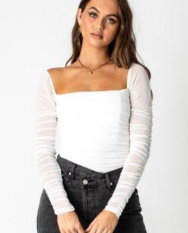 Delany Bodysuit White