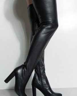 Didn't They Tell You Thigh High Chunky Heel Boots