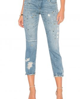 Distressed Straight Jean