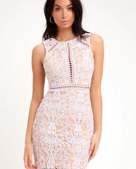 Dream Life Lavender Lace Bodycon Dress