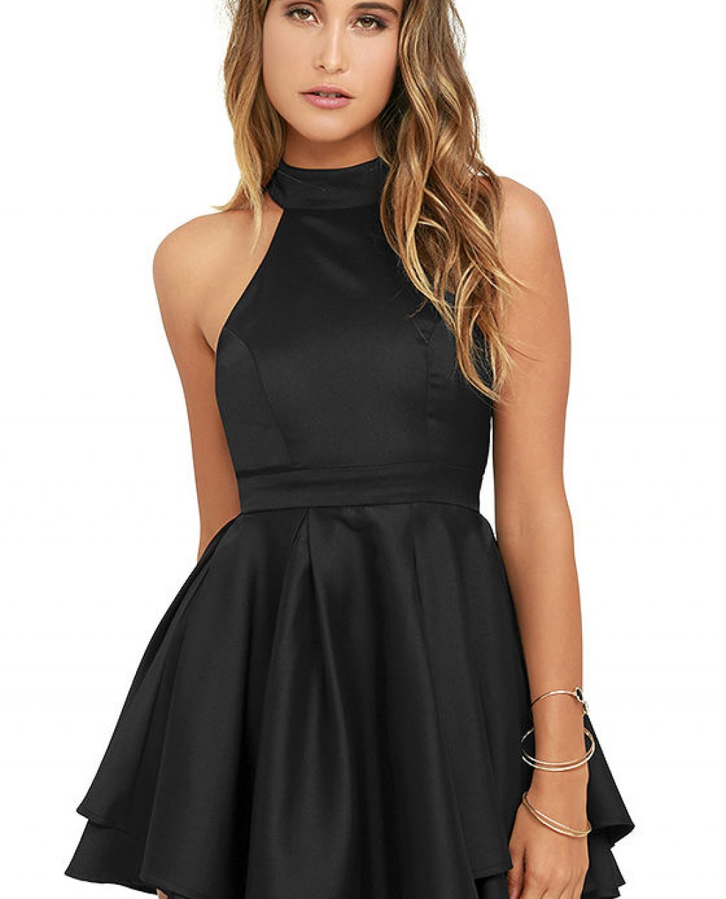 Dress Rehearsal Black Skater Dress