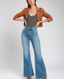 Eastcoast Light Blue High-Rise Flare Jeans