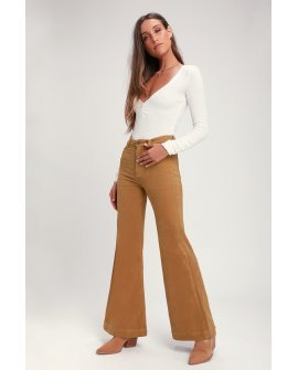 Eastcoast Tan Corduroy Flare Pants