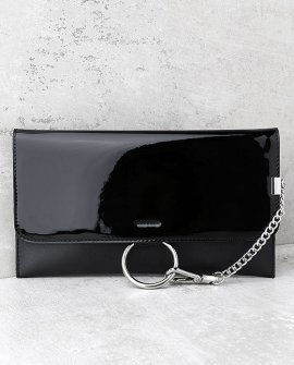 Easy Elegance Black Patent Clutch