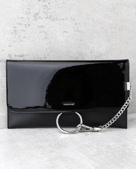 Easy Elegance Black Patent Clutch