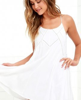 Easy Honey Ivory Slip Dress