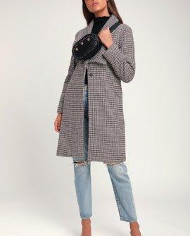 Elayne Camel Houndstooth Coat