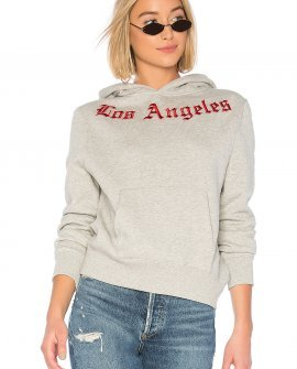 Embroidered oversized fleece hoodie By KENDALL + KYLIE