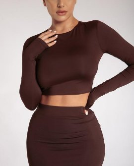 Emerly Long Sleeve Crop Top