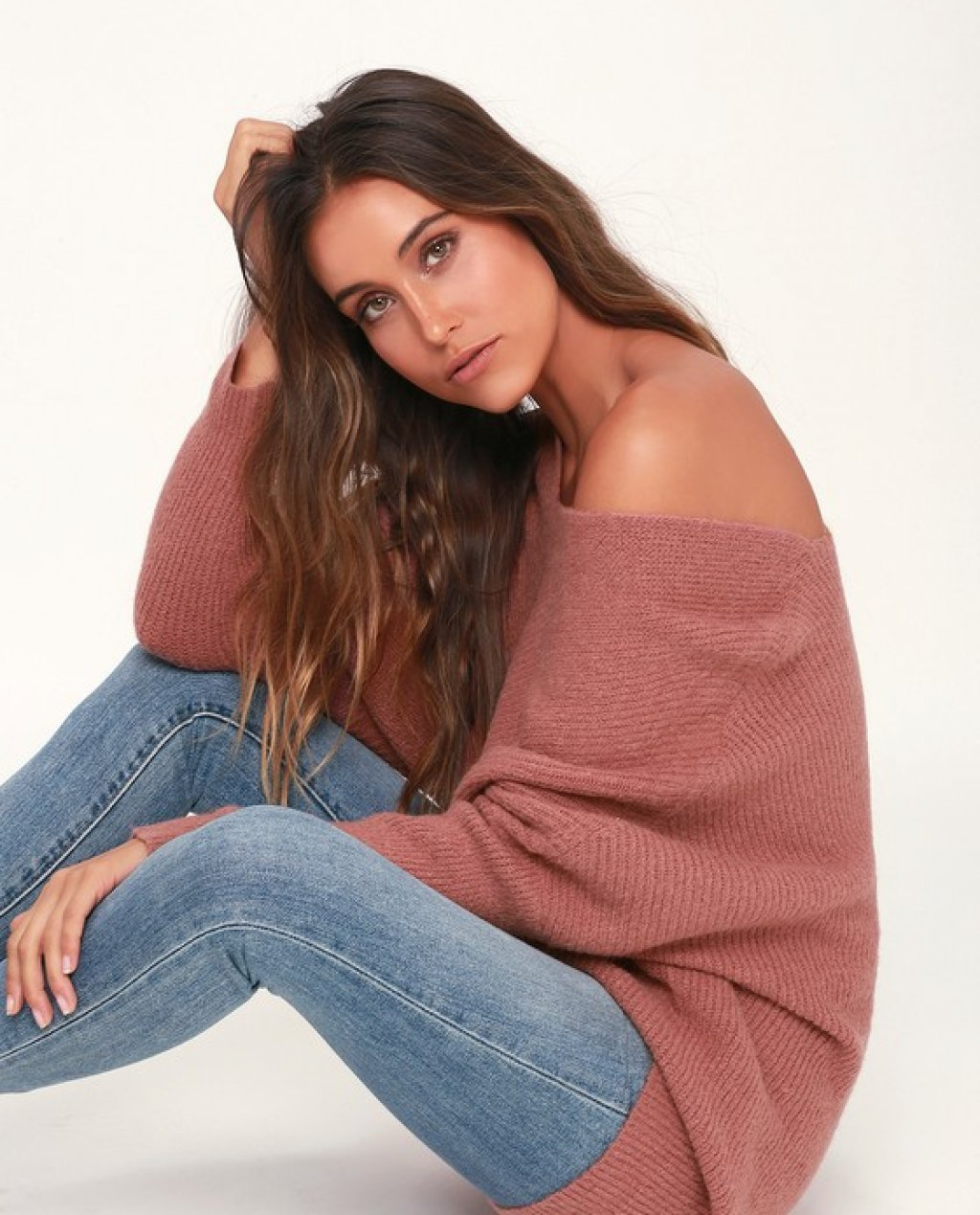 Emerson Mauve Dolman Sleeve Sweater