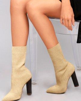 Emmaline Natural Knit Mid-Calf Boots