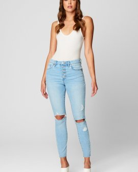 Exposed Button Fly Great Jones High Rise Skinny Jean