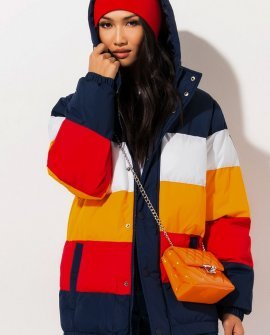 FILA Color Blocked Puffer Jacket