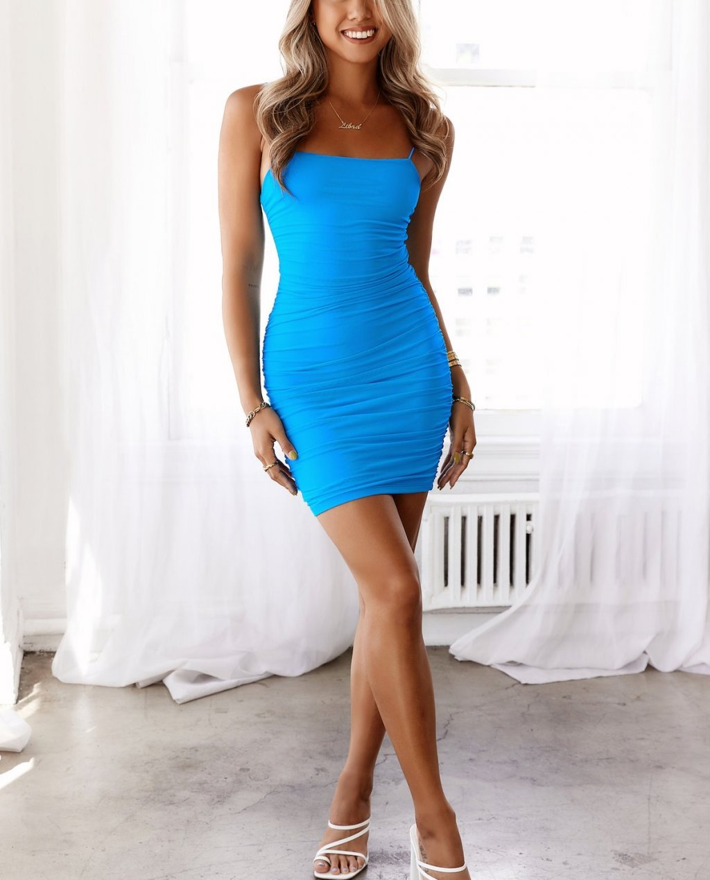 Favourite Things Dress Bright Blue