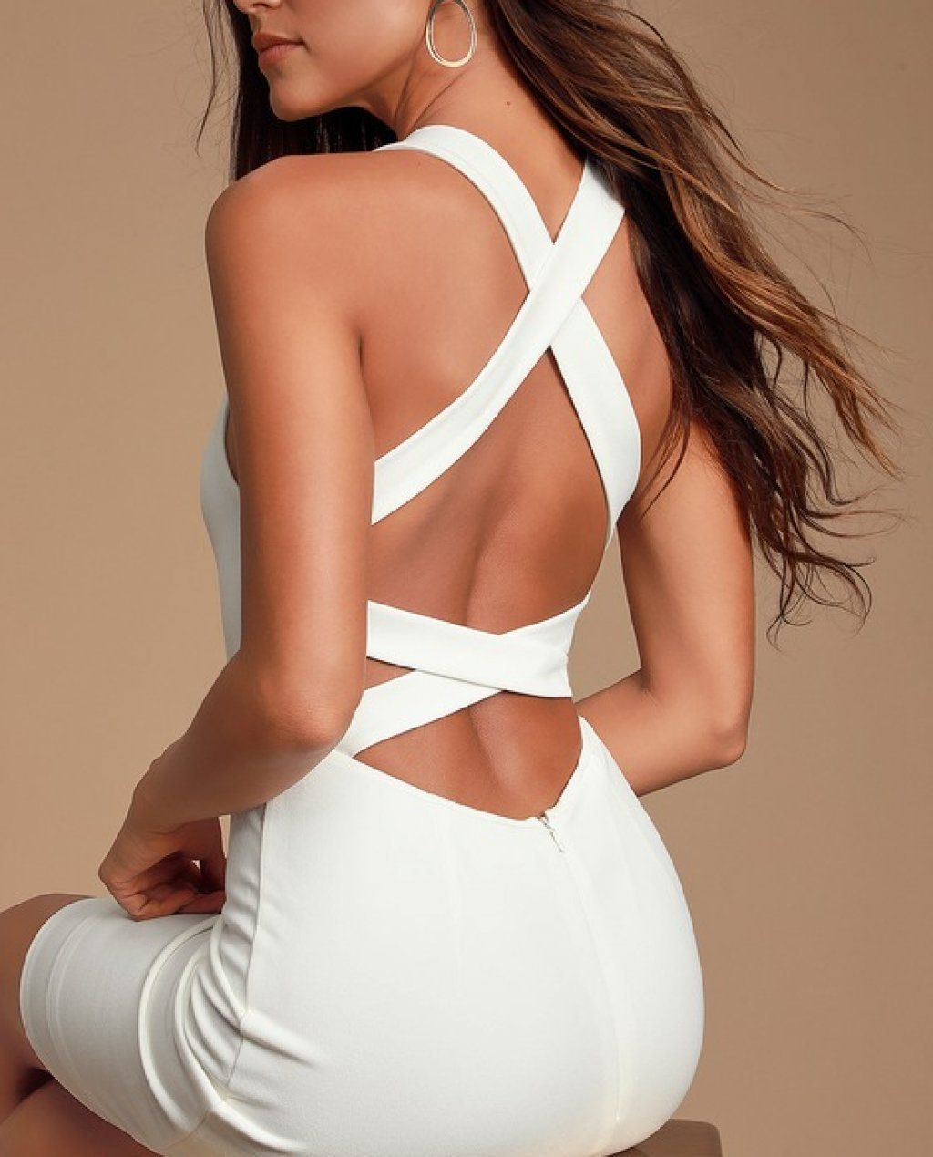 Feeling Right White Strappy Bodycon Dress