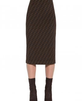Fendi All Over Pencil Skirt
