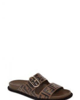 Fendi FF Logo Buckle Slide Sandals