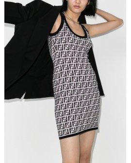 Fendi FF pattern sleeveless dress