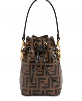 Fendi Mini Mon Tresor Embossed Leather Bag