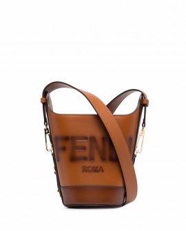 Fendi logo-debossed bucket bag